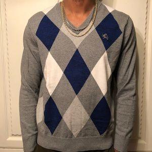 Express Argyle Sweater Size L